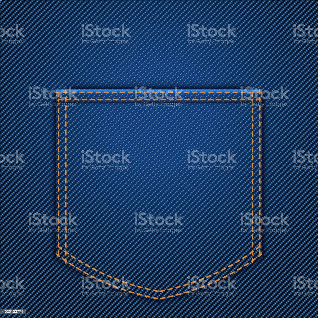 back jeans pocket vector art illustration