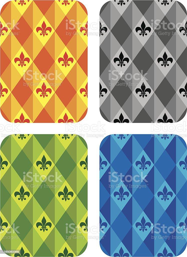 Back of  the Poker Cards designs vector art illustration