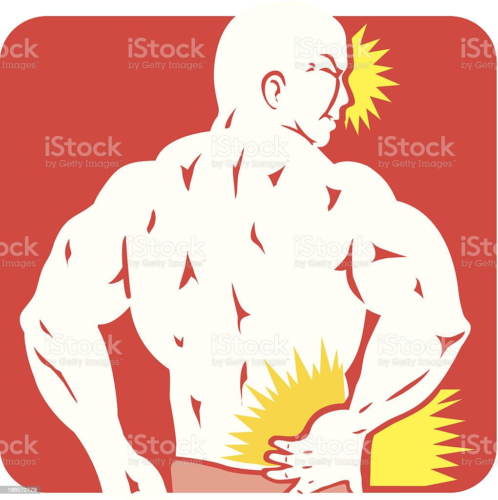 Back Pain icon royalty-free stock vector art