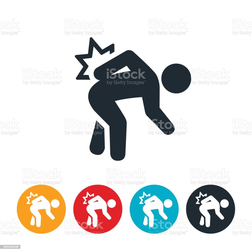Back Pain Icon vector art illustration