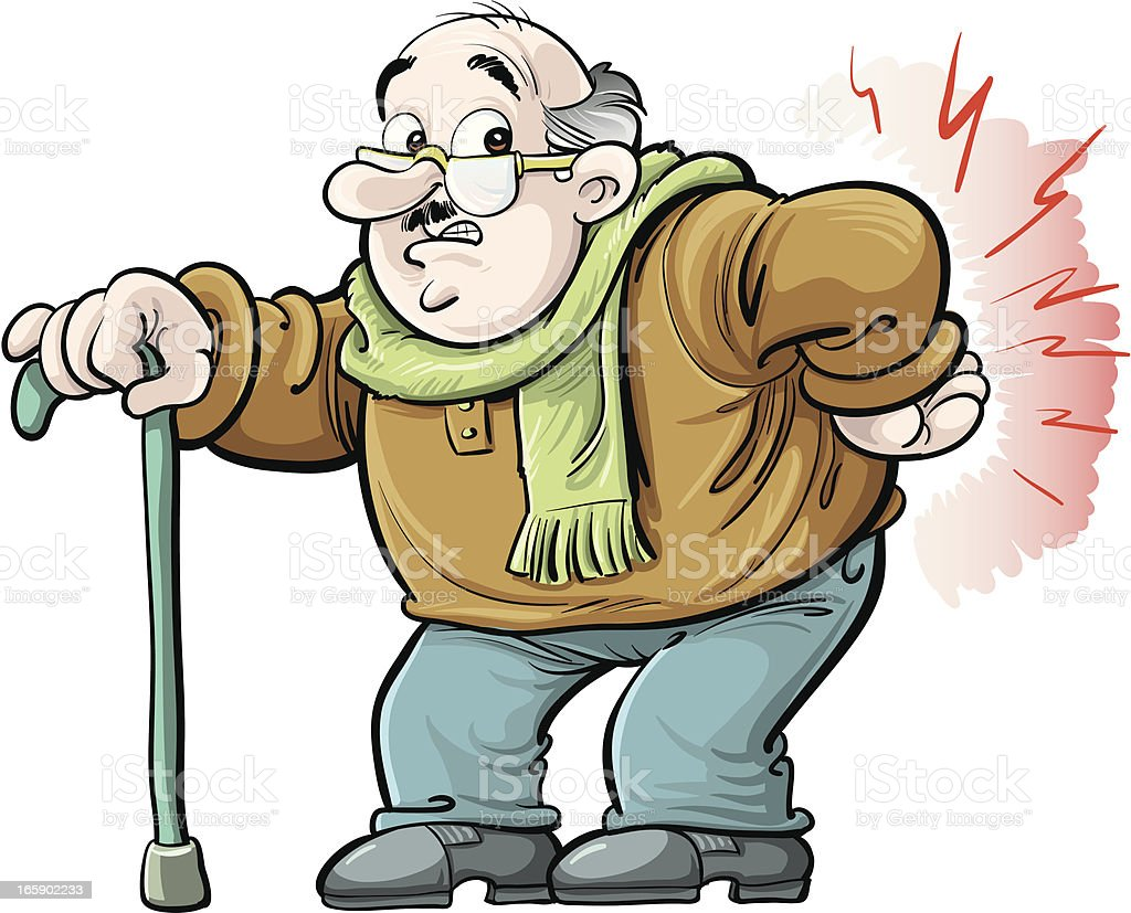 royalty free old man on a back pain cartoons clip art vector images rh istockphoto com old man clip art cartoon old man clip art free