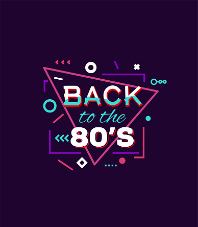 Back to 80's print