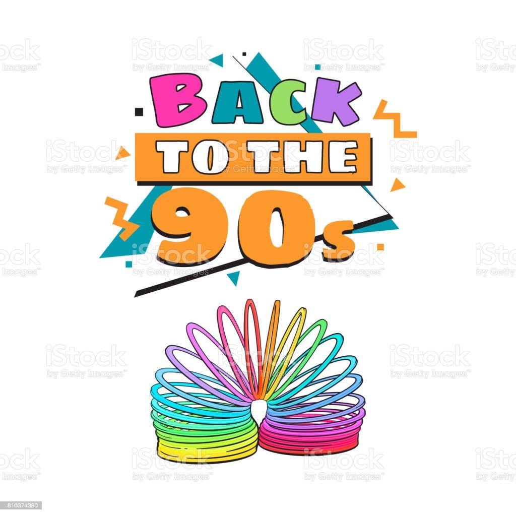 Zurück In Die 90er Jahre Plakat Vorlage Mit Regenbogen