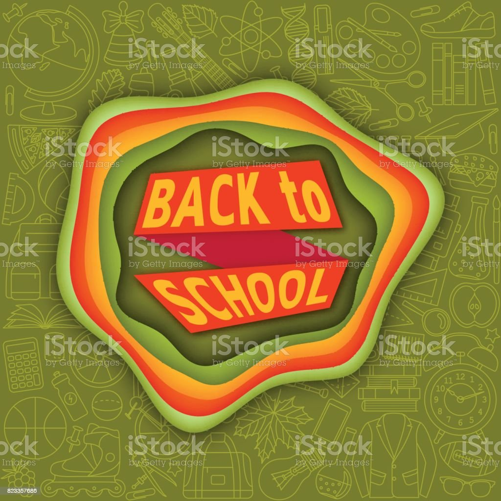 Back To School Banner Background. Origami Made Of Balloons And ... | 1024x1024