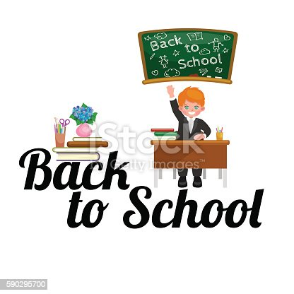 Back To School And Children Education Concept Vector Background-vektorgrafik och fler bilder på Arbetsverktyg 590295700