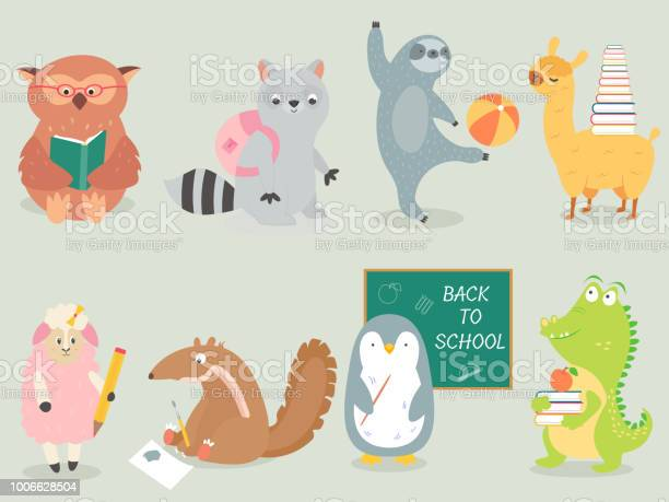Back to school animal character hand drawn style vector id1006628504?b=1&k=6&m=1006628504&s=612x612&h= jqps7iqry0x0fz0ycqy4wpa0tzdlr mfufy7z4eguk=