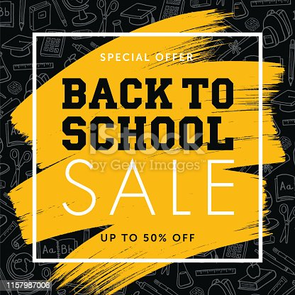 Back To School Background for advertising, banners, leaflets and flyers - Illustration