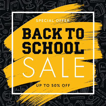 Back To School Background for advertising, banners, leaflets and flyers.