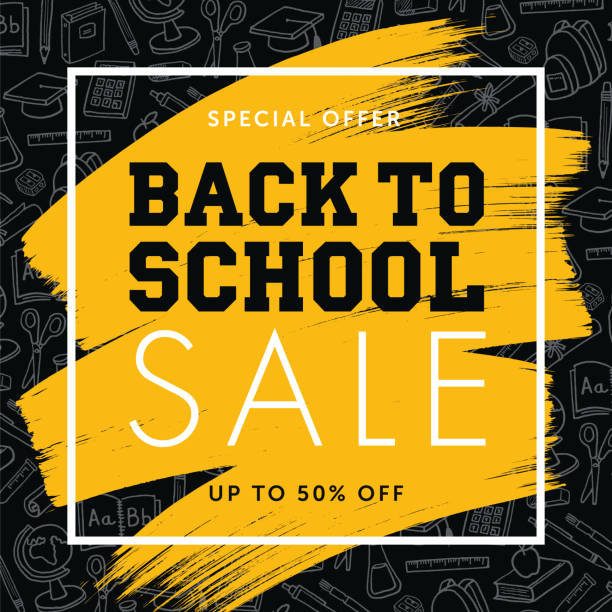 Back To School Background for advertising, banners, leaflets and flyers. Back To School Background for advertising, banners, leaflets and flyers - Illustration school supplies border stock illustrations