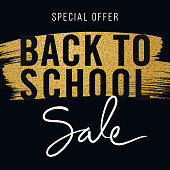 Back To School Background for advertising, banners, leaflets and flyers. Stock illustration