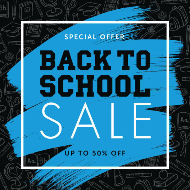 back to school background for advertising, banners, leaflets and flyers - back to school stock illustrations, clip art, cartoons, & icons