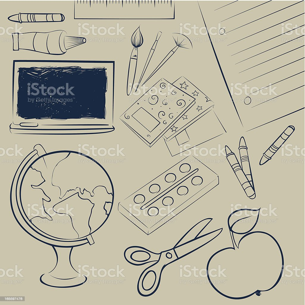 Back to school background royalty-free back to school background stock vector art & more images of apple - fruit