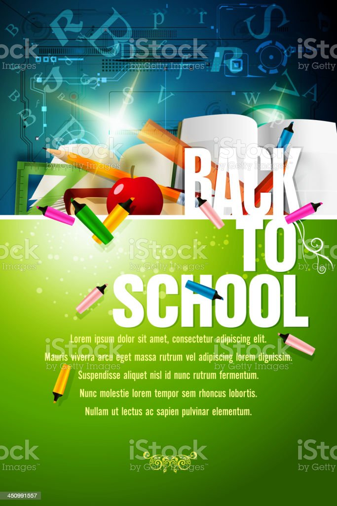 Back to School Background vector art illustration