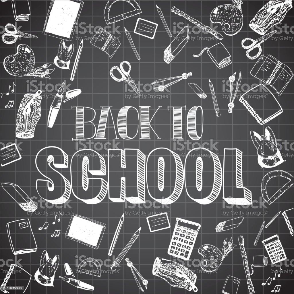Retour à l'école-plan - Illustration vectorielle