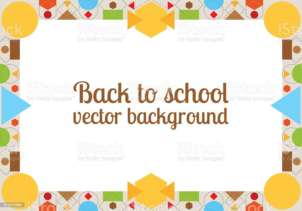 Back To School Background With Frame Stock Vector Art & More Images ...