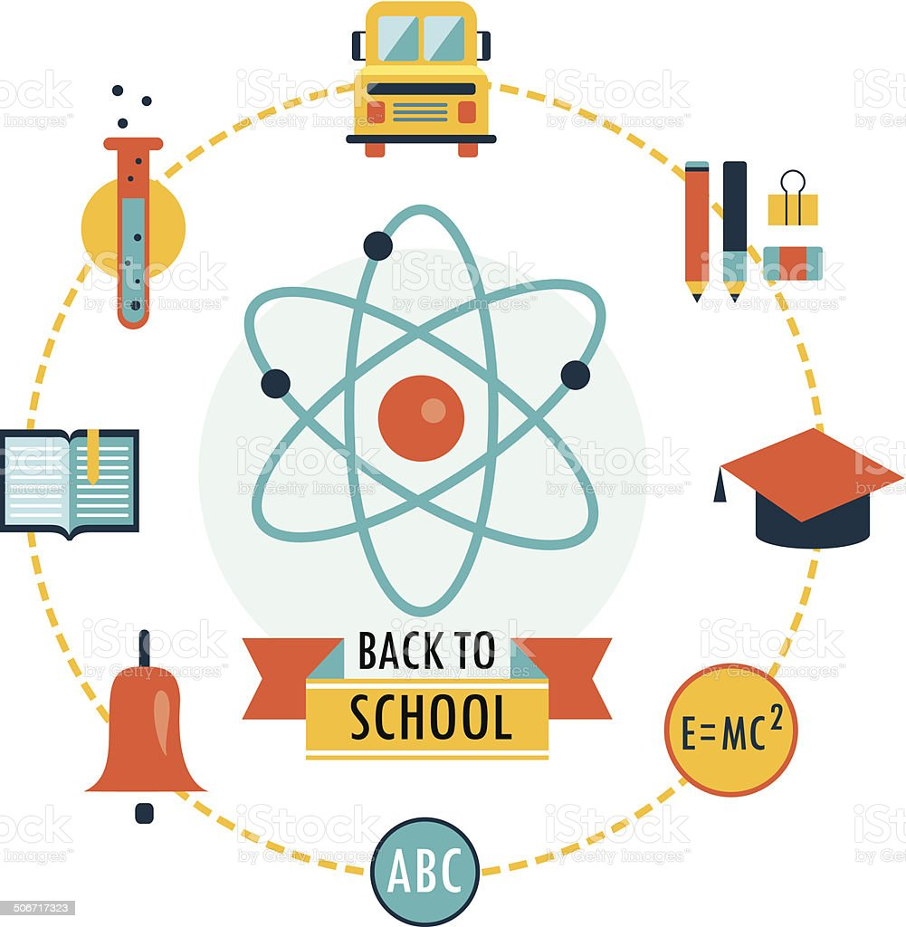 Back to school background with study icons royalty-free back to school background with study icons stock vector art & more images of activity