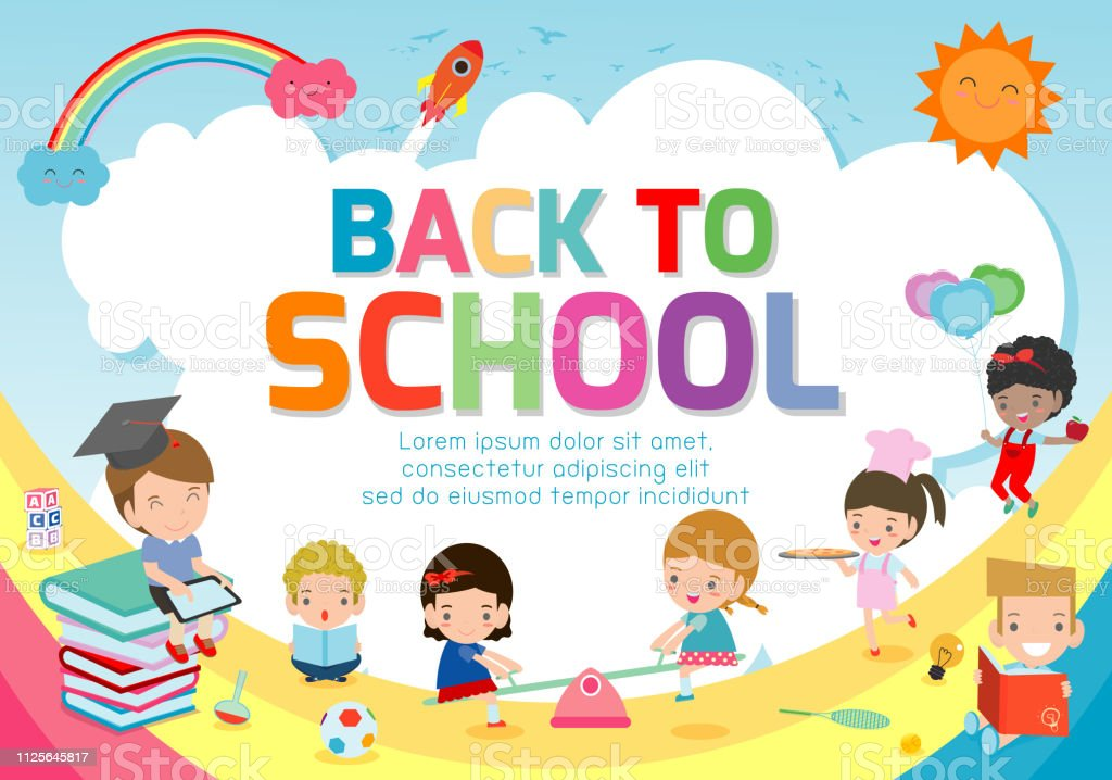 Back To School Banner Backgroundwelcome Back To School Cute School Kidseducation Concept Template For Advertising Brochure Your Text Vector Illustration Stock Illustration Download Image Now Istock
