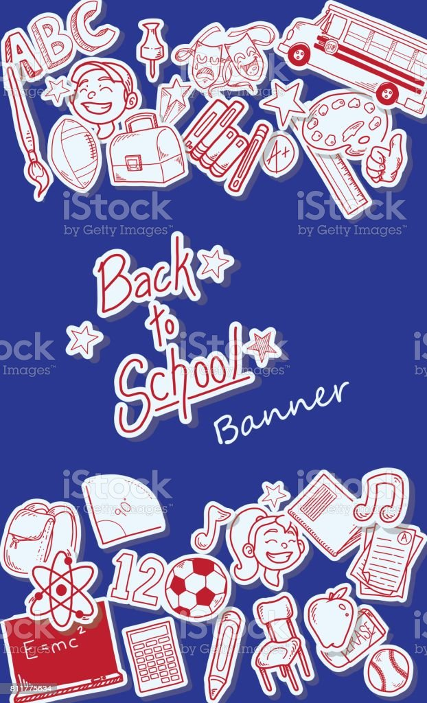 Back to school banner design template