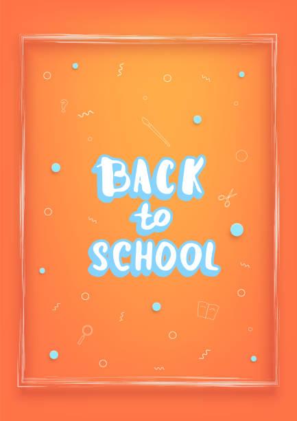 Zurück zu Schule Banner Vorlage. Vektor-Illustration. – Vektorgrafik