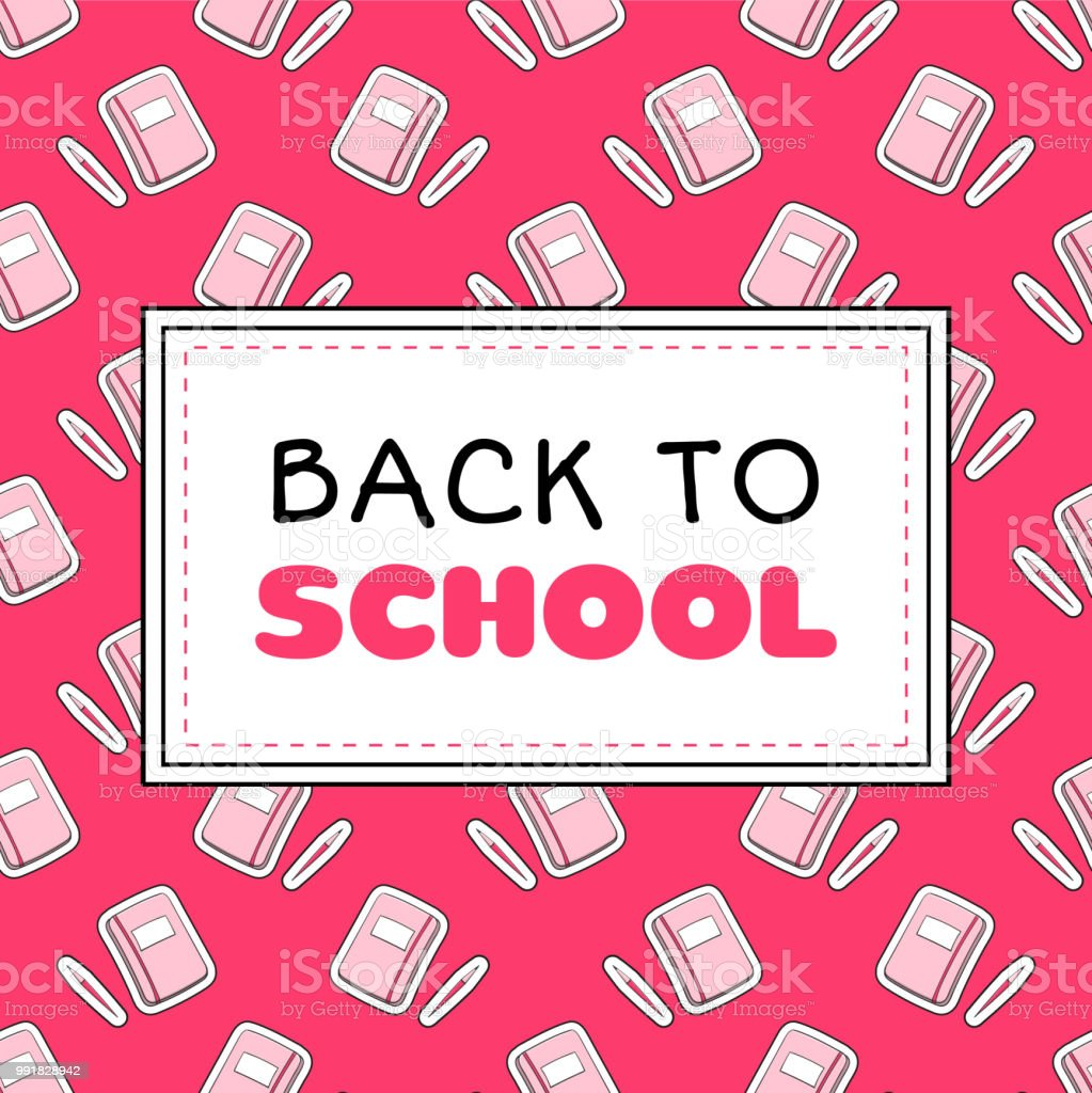 Back To School Banner Template Vector Teenager Girls Concept With ...
