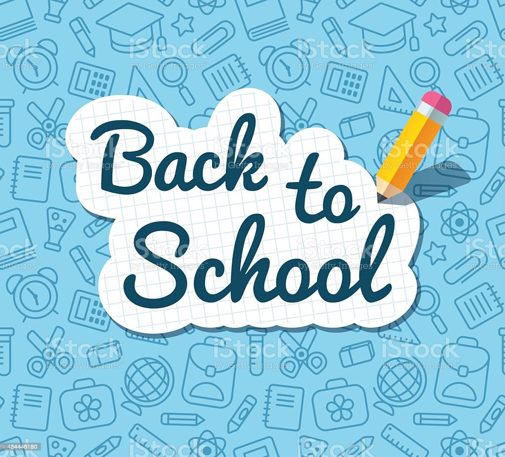 Back to school banner vector art illustration