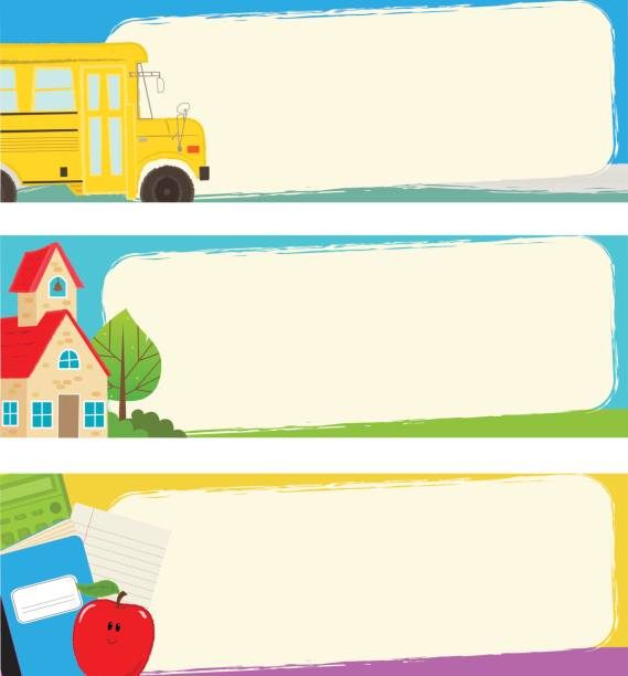 Back to School Banners vector art illustration