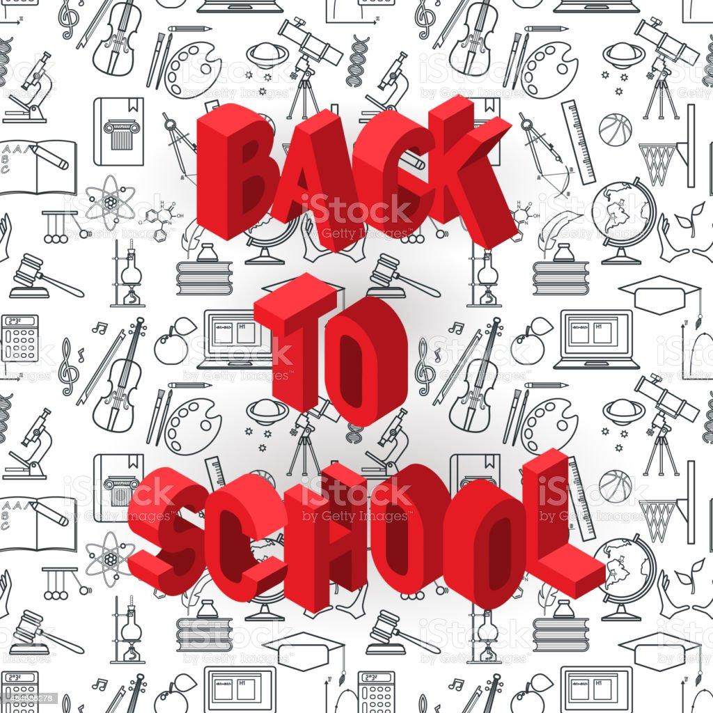 Back to school BG vector art illustration