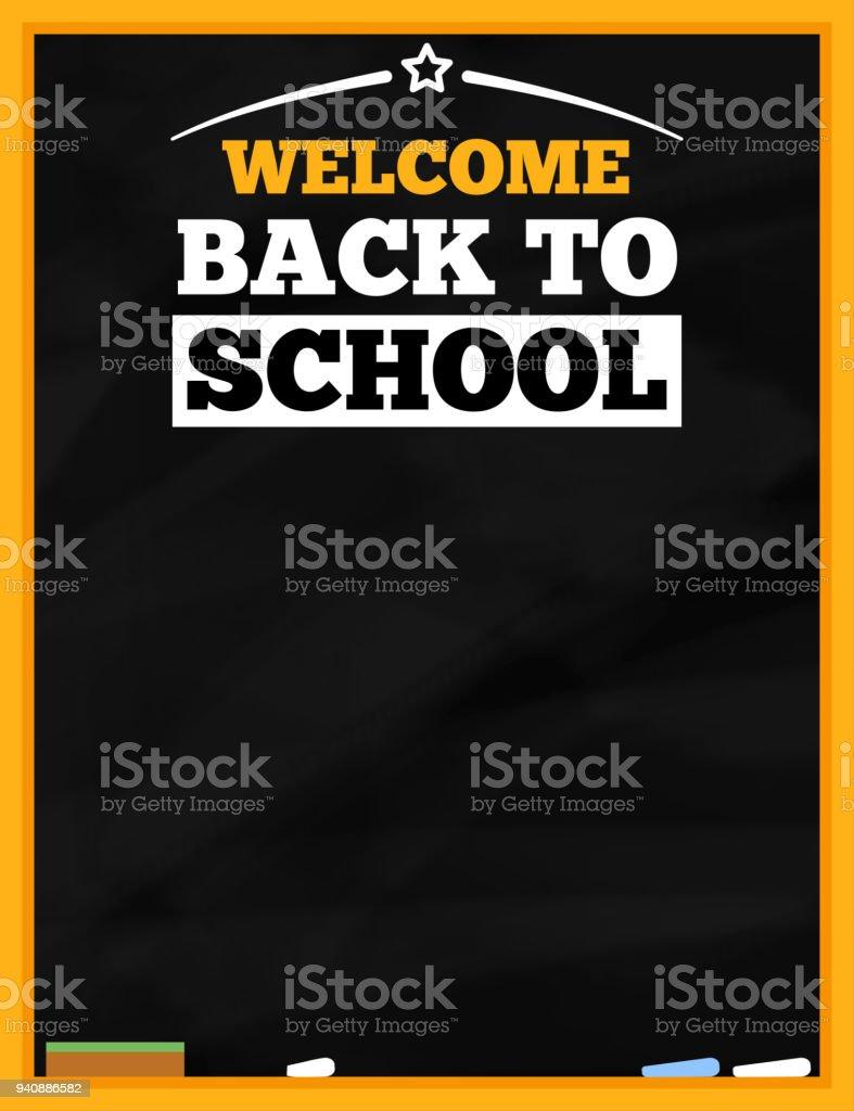 back to school blackboard flyer template stock vector art more