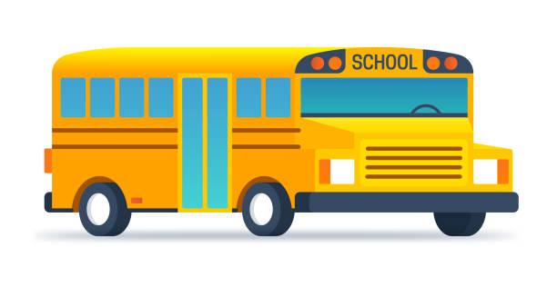 ilustraciones, imágenes clip art, dibujos animados e iconos de stock de regreso al autobús escolar - escuela media