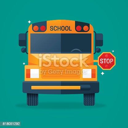 istock Back to School Bus 818051292