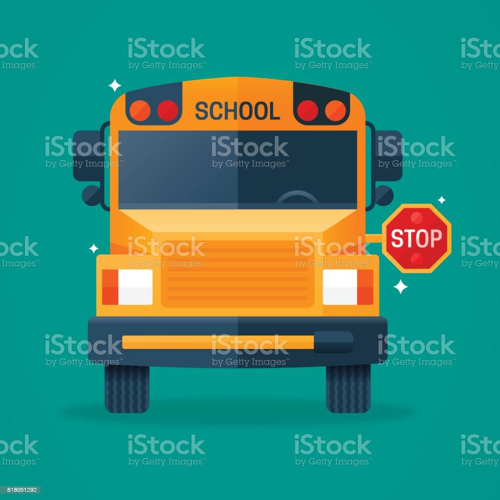 Back to School Bus vector art illustration