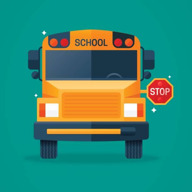 Back to School Bus vector art illustration