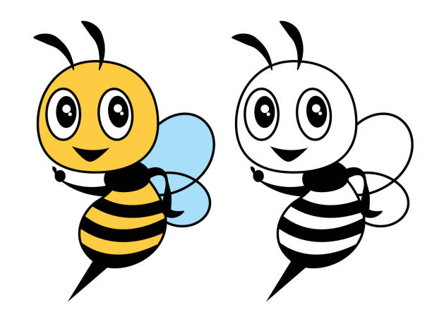 59 Bumble Bee Coloring Pages Illustrations Clip Art Istock