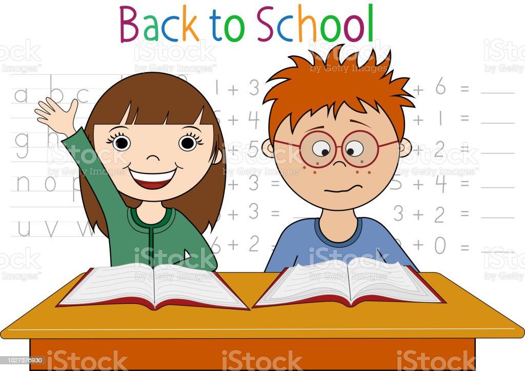 Back to School Cartoon vector art illustration