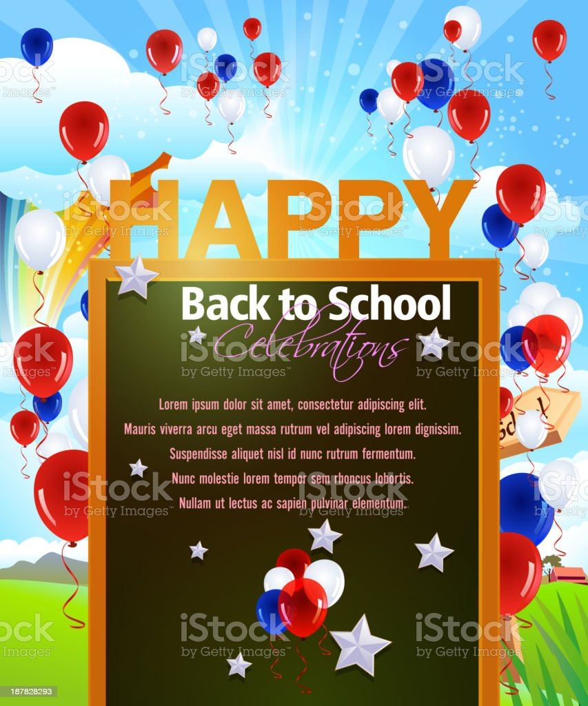 Back to School Celebrations Background royalty-free stock vector art