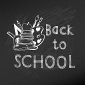 Back to School Chalkboard Illustration