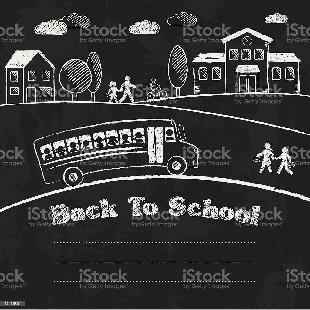 Back To School Chalkboard - ilustración de arte vectorial