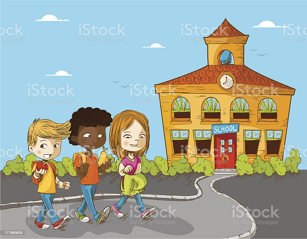 Back to School children background royalty-free stock vector art
