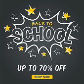 Back to school comic bubble - Sale design for advertising, banners, leaflets and flyers - Illustration