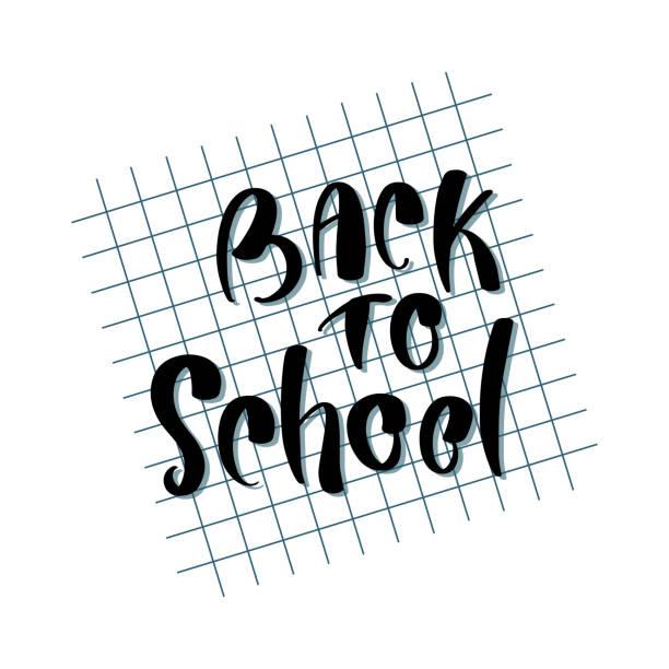 Zurück zur Schule. Konzept der Bildung. Schule-Hintergrund. Zurück zu Schule Flyer Vorlage auf Interfacemodule Hintergrund. – Vektorgrafik