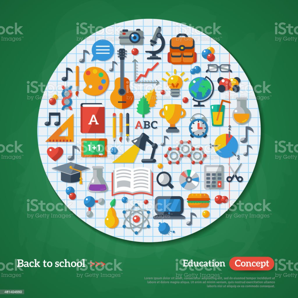 Back to School Concept vector art illustration