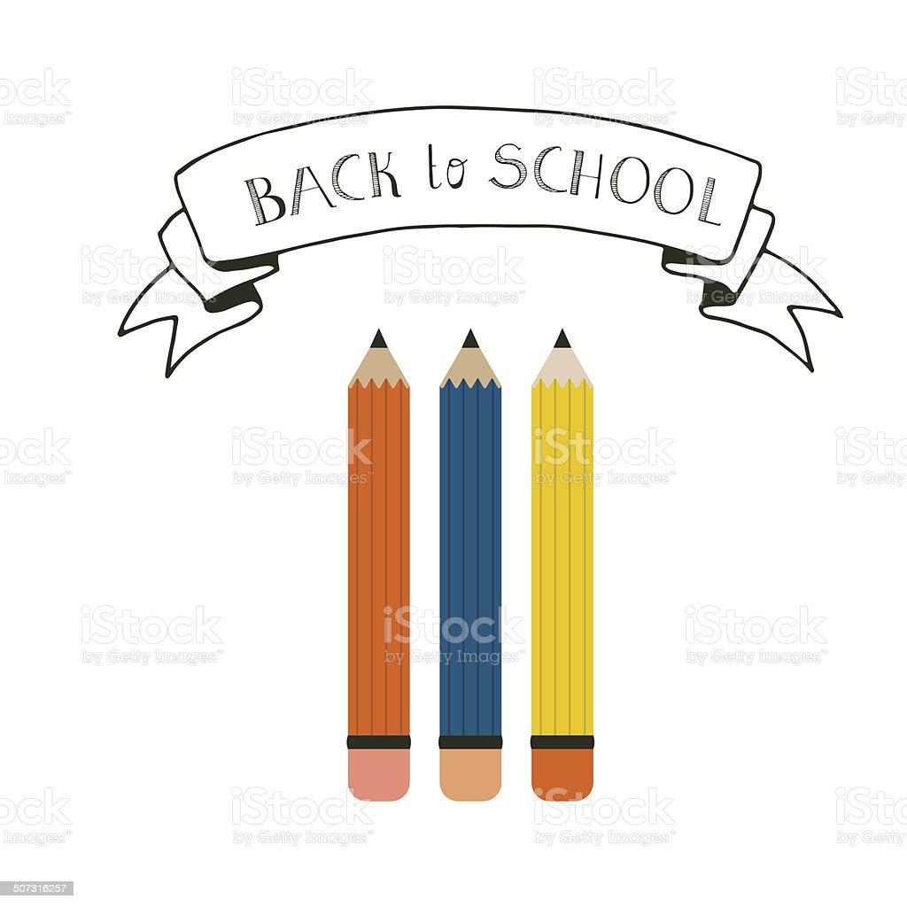 Back to School Concept vector art illustration