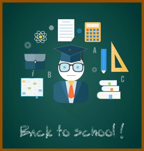 powrót do szkoły koncepcja - back to school stock illustrations