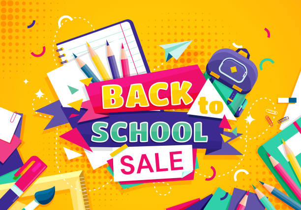 Back to school concept with school items and elements. vector banner design. Back to school concept with school items and elements. vector banner design back to school stock illustrations