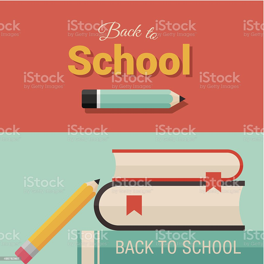 Back to school design elements 01 vector art illustration