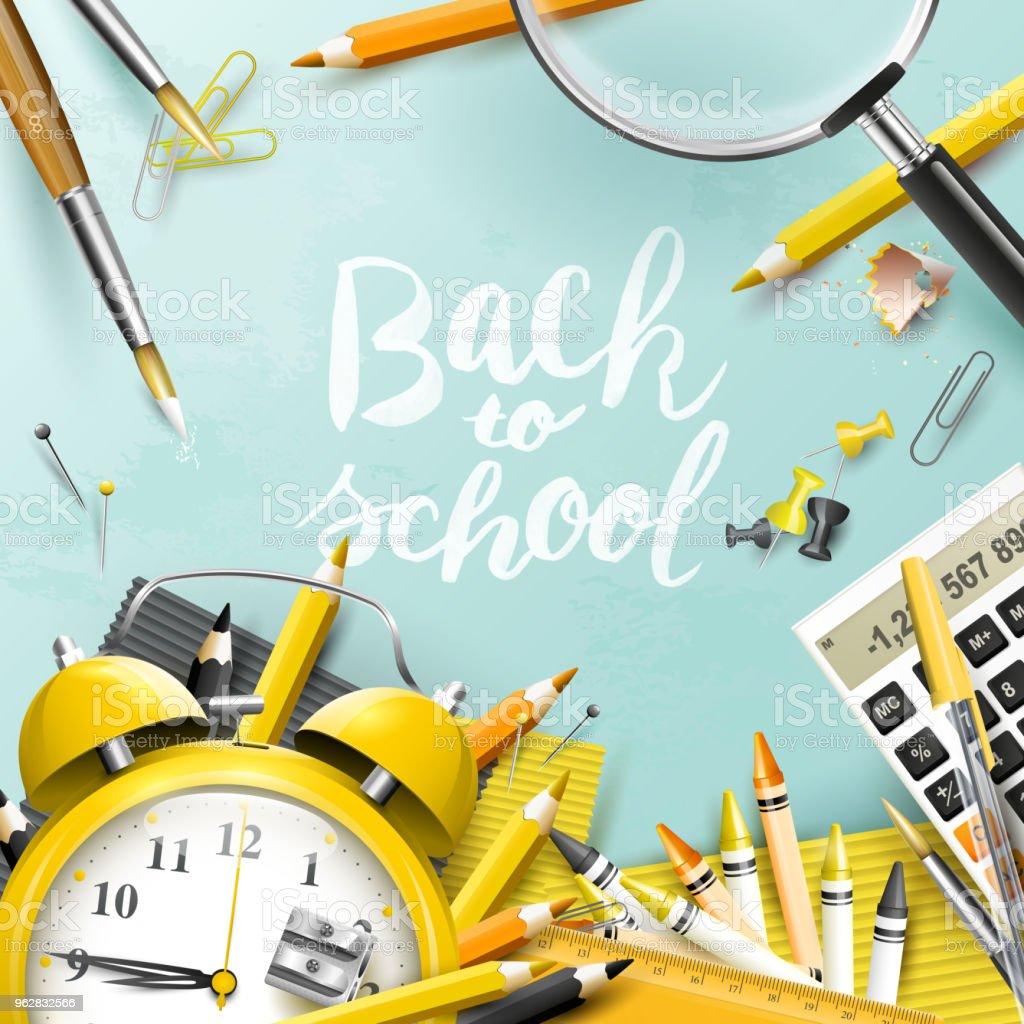 Back to school design template - arte vettoriale royalty-free di Alla moda