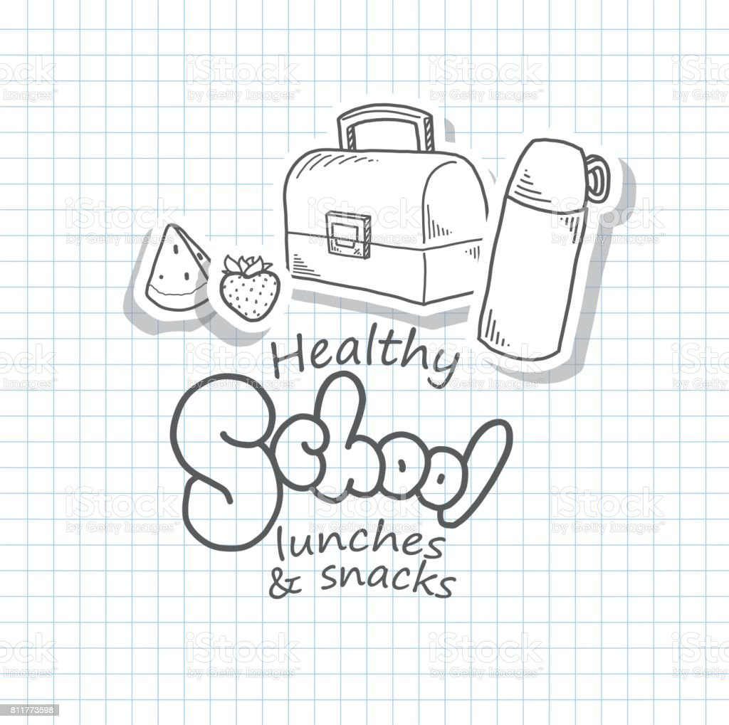 Back to school design template with icons vector art illustration