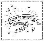 Back to school design typographic quotes