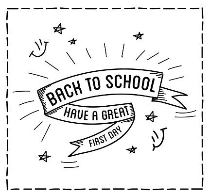 Back To School Design Typographic Quotes Stock