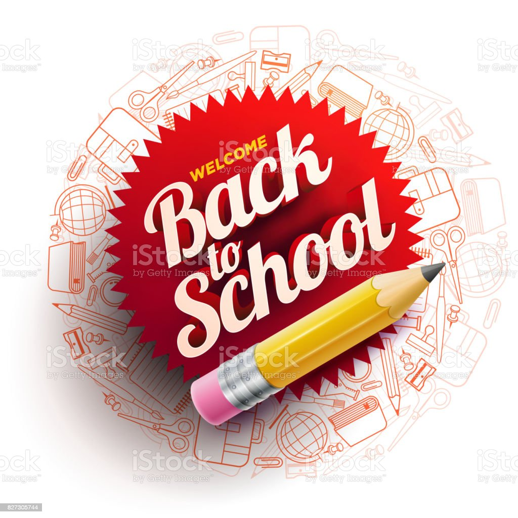 Back To School Design vector art illustration